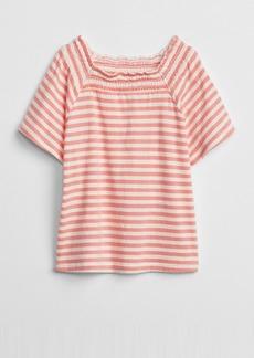 Gap Smocked Squareneck T-Shirt