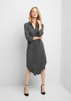 Gap Soft midi space dye shirtdress