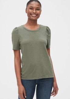Gap Soft Slub Puff Sleeve Crewneck T-Shirt