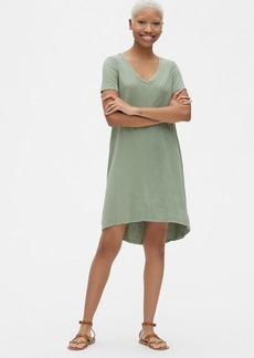 Gap Soft Slub Vintage Wash V-Neck T-Shirt Dress