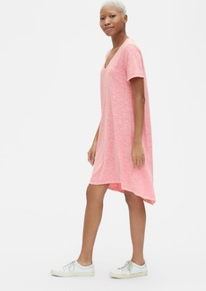 Gap Soft Slub Vintage Wash V-Neck T-Shirt Dress