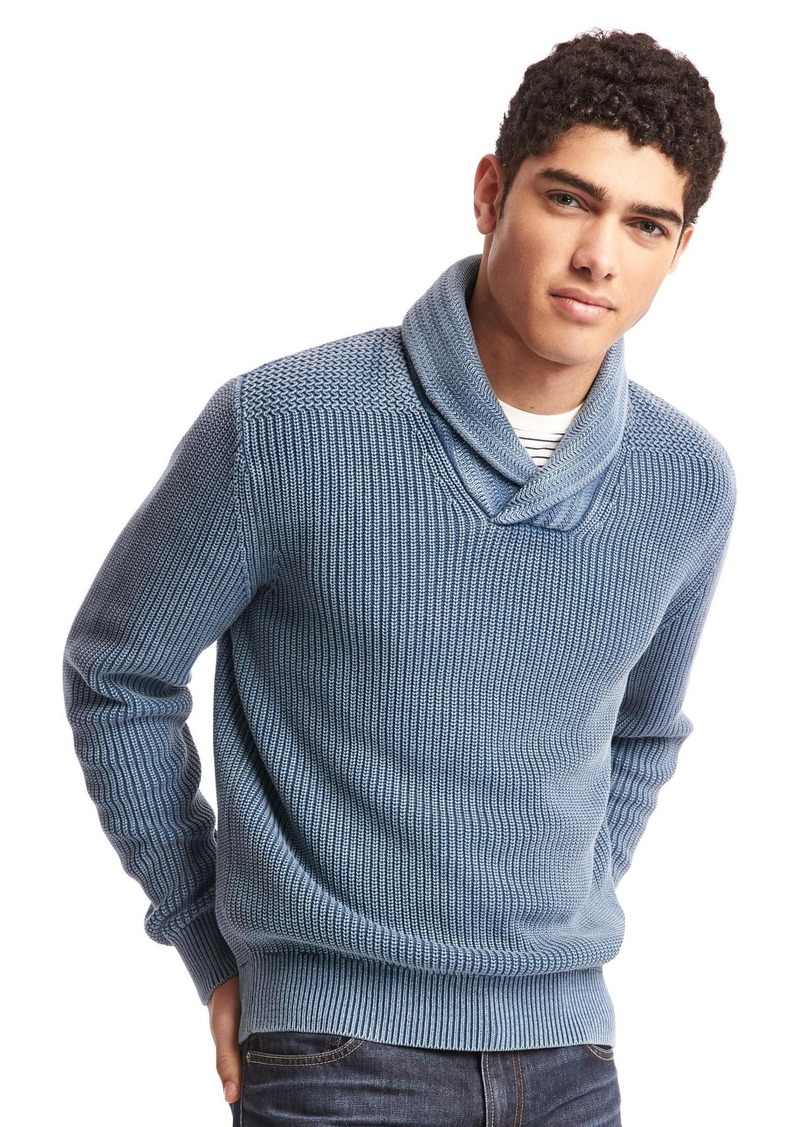 7e7d1664d Gap Soft textured shawl collar sweater