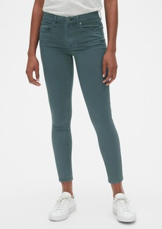 Gap Soft Wear Mid Rise True Skinny Ankle Jeans in Color