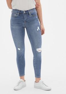 Gap Soft Wear Mid Rise True Skinny Jeans in Distressed