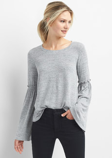 Gap Softspun bell-sleeve top