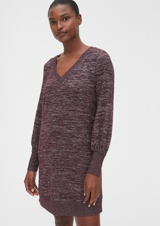 Gap Softspun Blouson Sleeve V-Neck Dress