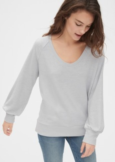 Gap Softspun Blouson Sleeve V-Neck Top