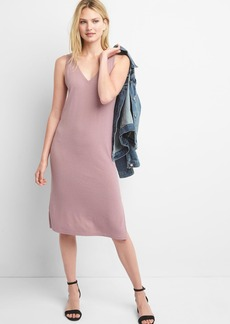 Softspun double-V dress