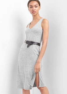 Softspun double-V dress