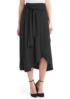 Gap Softspun knit midi wrap skirt