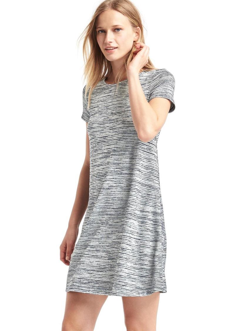 Gap Softspun Knit Stripe T Shirt Dress Dresses