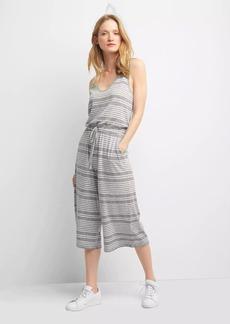 Gap Softspun knit stripe wide-leg jumpsuit