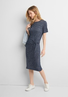 Softspun knit tie dress