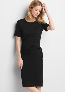 Softspun knit tie dress