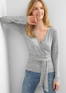 Gap Softspun knit tie-wrap top