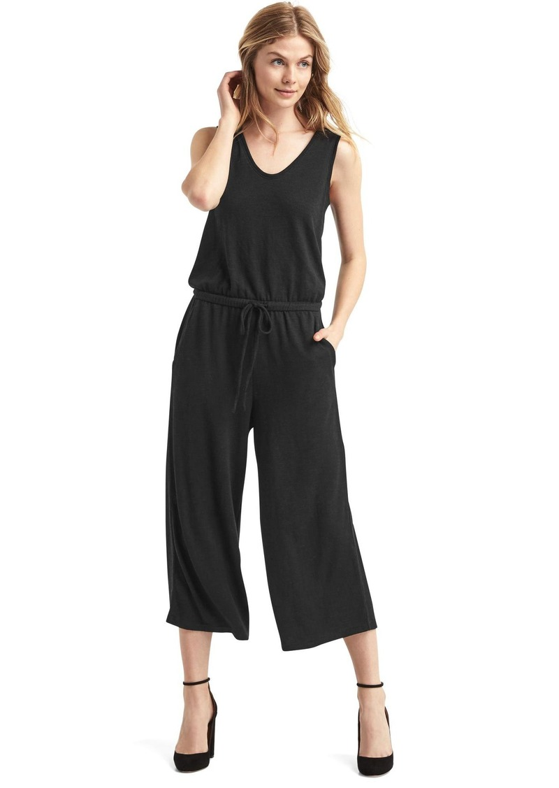 64ab6f5609 On Sale today! Gap Softspun knit wide-leg jumpsuit