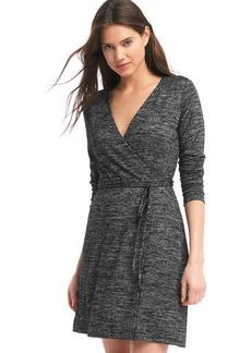 Softspun knit wrap dress