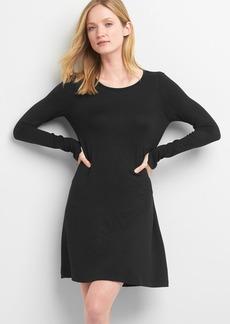 Softspun long sleeve swing dress