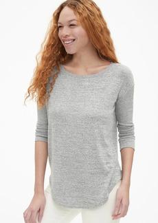 Gap Softspun Mix-Fabric Long Sleeve Tunic Top