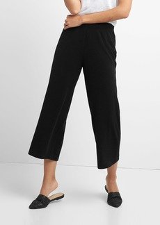 Softspun Ribbed Crop Wide-Leg Pants