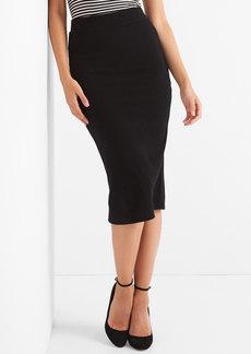 Gap Softspun ribbed midi skirt