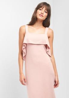 Gap Softspun ruffle midi dress