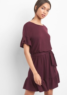Gap Softspun ruffle tie-belt dress