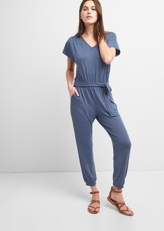 Gap Softspun Short Sleeve Jumpsuit