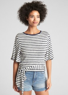 Gap Softspun Short Sleeve Wrap-Belt Top