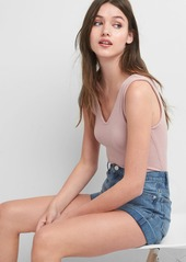 Gap Softspun sleeveless V-neck bodysuit