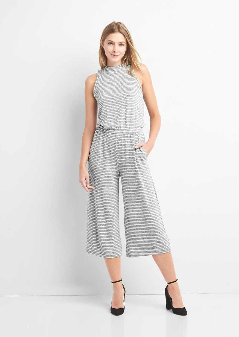 00b57a476f88 Gap Softspun stripe culotte jumpsuit