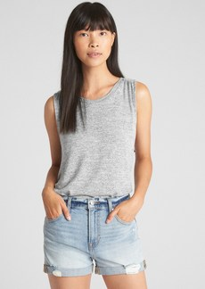 Gap Softspun Swing Tank Top with Cinched Back