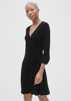 Gap Softspun Three-Quarter Sleeve Wrap Dress