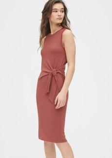 Gap Softspun Tie-Front Midi Dress