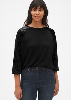 Gap Softspun Velvet Raglan Sleeve Top