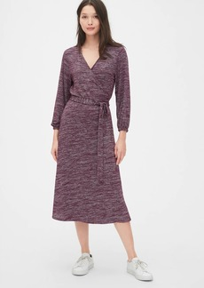 Gap Softspun Wrap Midi Dress