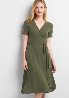 Gap Softspun wrap midi dress