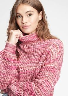 Gap Space-Dye Mockneck Sweater