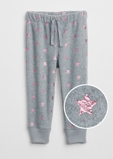 Gap Sparkle Print Pants in Fleece