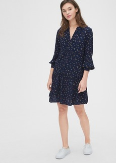 Gap Split-Neck Drop Waist Dress