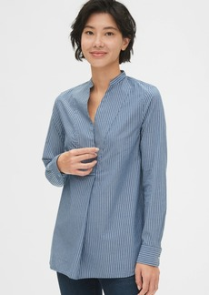 Gap Split-Neck Popover Tunic Shirt