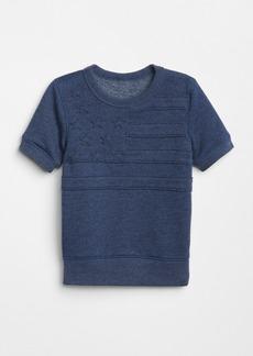 Gap Stars & Stripes Short Sleeve Sweatshirt