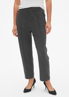 Gap Straight Crop Stripe Pants in Brushed Ponte