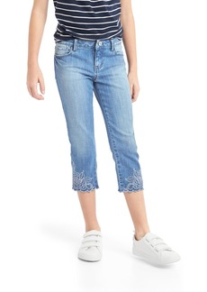 Gap Stretch eyelet straight crop jeans