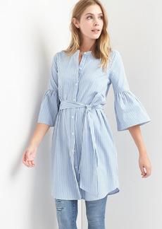 Stripe bell shirtdress