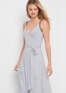 Stripe cami wrap dress