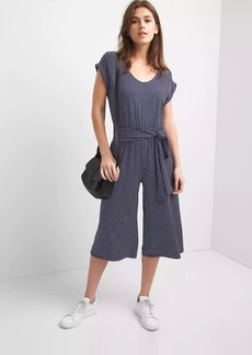 Gap Stripe crop culotte jumpsuit