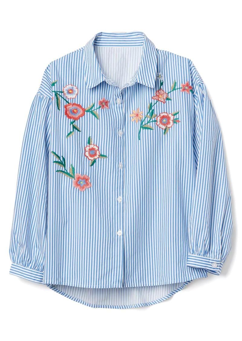 Gap Stripe Embroidery Shirt Shirts