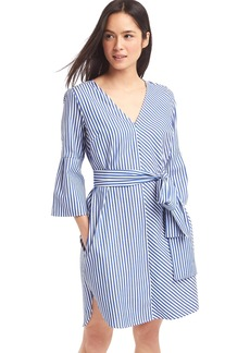 Stripe front-tie dress