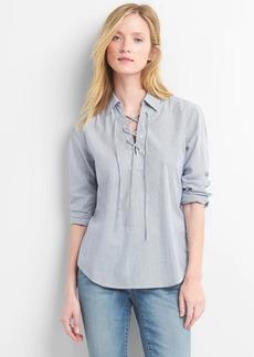 Gap Stripe lace-up shirt